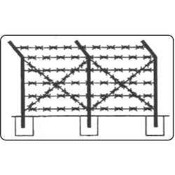 Stainless Steel Barbed Wire Fence