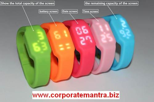 Bracelet USB with LED Watch