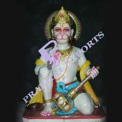 Meditating Hanuman Statue