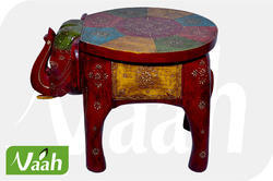 Vaah Wooden Elephant Stool