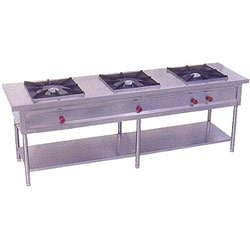 Commercial Three Burner Gas Stoves Range
