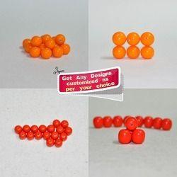 Handmade Mini Plain Resin Beads