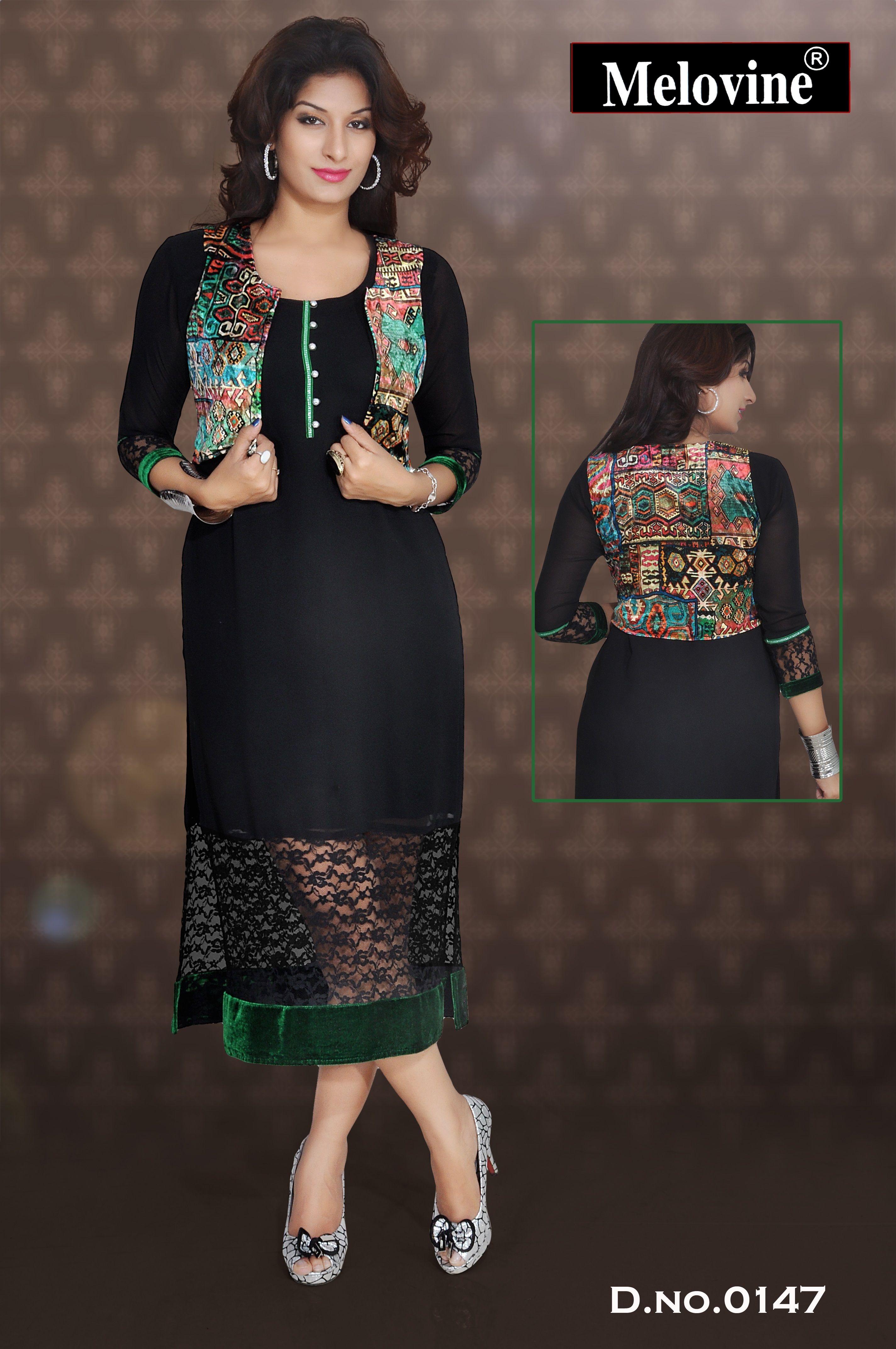 a946573054 Velvet Jacket Long Kurti at Rs 800 /piece   Long Kurtas   ID: 8897877312
