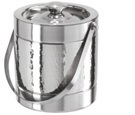 Steel Ice Bucket Half Hammerd 1.5 Ltr