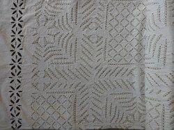 White Cotton Handmade Kantha Quilt