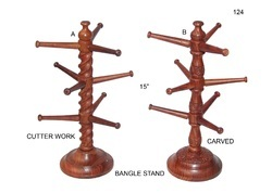 Wooden Bangle Stand