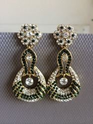 Green Lead Earrings