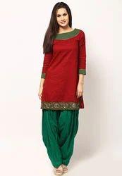 Beautiful Bottle Green Patiala Salwar Suit