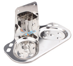 Stainless Steel  Double Tumbler Soap Dish Holder