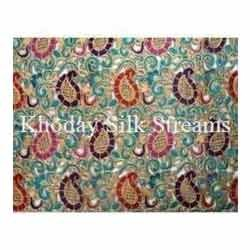 Cut Work Embroidery Silk Fabric