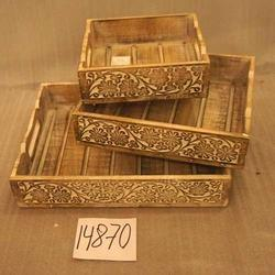 Decorative Wooden Serving Trays