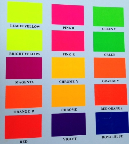 Fluorescent Day Glow Safety Paints Vibrant Coatings