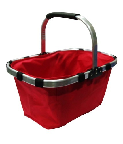 Folding Portable Shopping Picnic Hand Basket