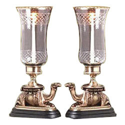 Brass Hurricane Lamps