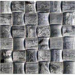 Grey Slate 3D Mosaic Tiles