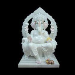 Ganesha White Marble