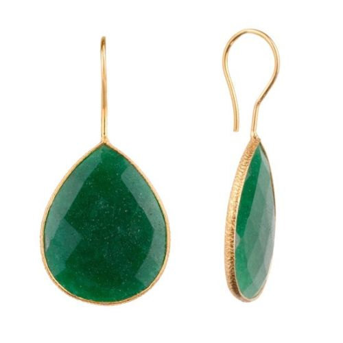 b7cdc6013 925 Sterling Silver Dyed Emerald Gemstone Bezel Earring at Rs 650 ...