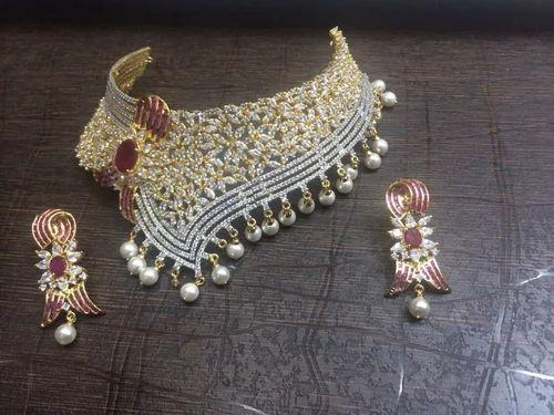 American Diamond Necklace Set American Diamond Choker