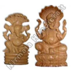 Wooden Laxmi Ganesha Statues