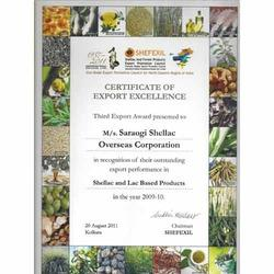 Export Excellence Certificate in 2009-10