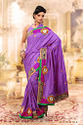 Lavender Ethnic Art Silk Sarees