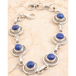 Majestic Sterling Silver Bracelet Sodalite