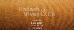 21 Wale Cotton Lycra Fabric