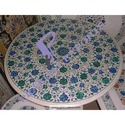 Carved Marble Round Table Tops