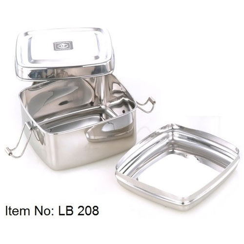 406028d80024 Stainless Steel Square Lunch Box - Unique Steel, Chennai | ID ...