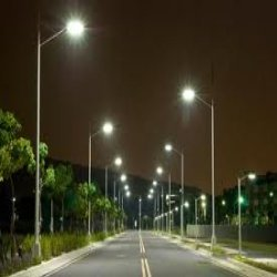 Mercury Vapor Street Lights