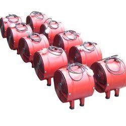 0.55-2.2kW And Steel Portable Ventilation Fan