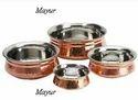 Copper Hammered Handi
