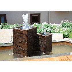Brown Frp Cube Fountain