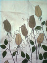 Bed Sheet with Floral Felt Patch Work