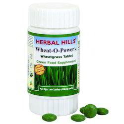 Natural And Vegan Organic Wheatgrass Green Food Tablet