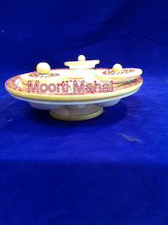 Marble Revolving Dry Food Tray
