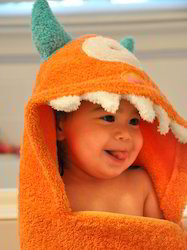 Plain Kids Hooded Towels, For Apparel And Clothing