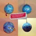 Blue Pattern X-Mas Ball Holiday Decoration Bauble Ball