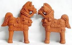 Terracotta Pair Horse Statues