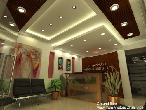 Office reception ceiling design for Hotel ceiling design