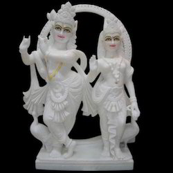 White Radha Krishan Statue