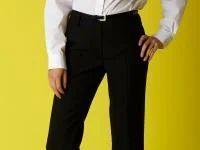 Black Senior Girls Short Leg Belted Trouser