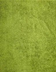 Mat India Printed Green Polyester Shaggy Carpet