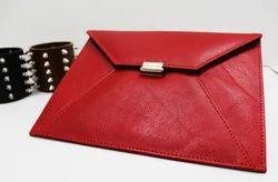 Genuine Leather Female Envelope Clutch
