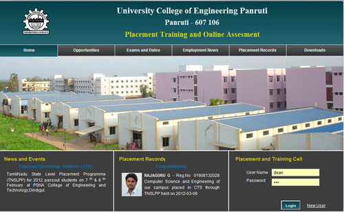 Placement Evaluation and Data Management System in Krishna