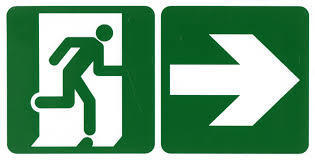 emergency exit sign right at rs 650 piece s exit signage id
