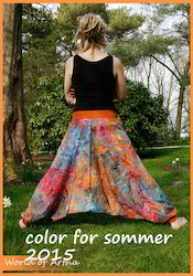 Cotton Regular Fit Tie Dye Harem Pants, Waist Size: 28.0
