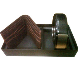 Leather Belt Wallet Combo Set