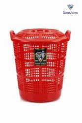 Plastic Laundry Basket Medium Bin