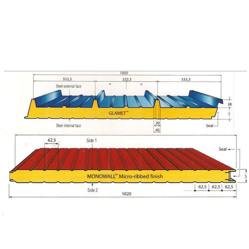Sandwich Puff Roofing Panels And Galvanized Metal Roofing